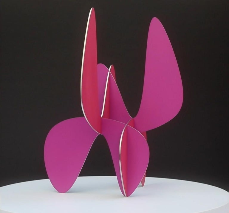 Barricada #9 aic 3S, Abstract Sculpture, Painted stainless steel For Sale 4