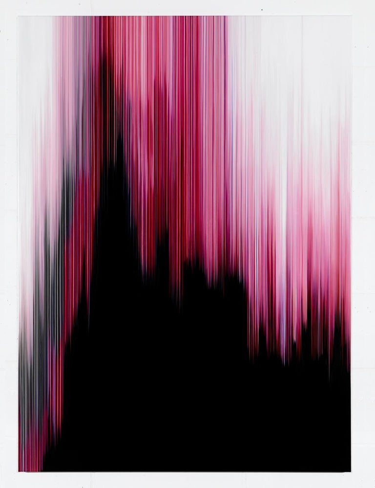 Doris Marten Abstract Painting - Pink Painting (Building No.4) - Abstract painting