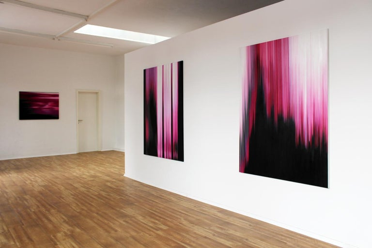 Pink Painting (Building No.4) - Abstract painting For Sale 1