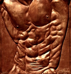 Torso of Hercules (Male Nude, Bronze bas-relief)