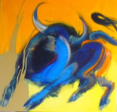 Taureau IX (Bull, colorful painting)