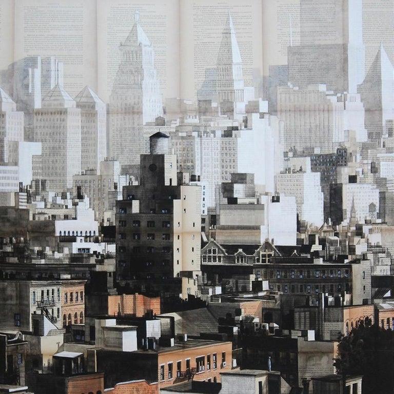 Gotham (New York) - Urban Landscape Painting For Sale 1