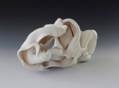 Peeled II, Abstract porcelain sculpture
