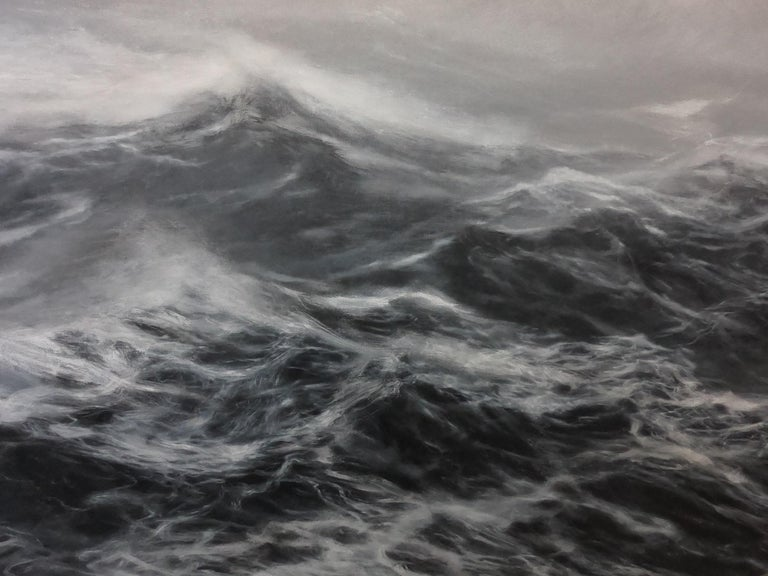 The Kingdom of the Wind - Contemporary Seascape Painting For Sale 1