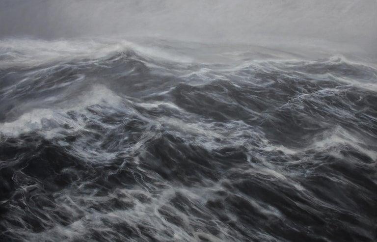 Franco Salas Borquez Landscape Art - The Kingdom of the Wind - Contemporary Seascape Painting
