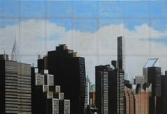 Debout (Standing)- Urban Landscape Painting, New York City