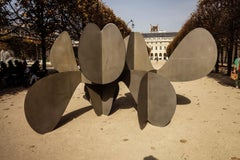 Barricada #1 h L, Large-Scale Abstract Sculpture, Steel
