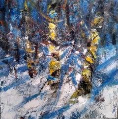 Winter Sun in the Birch Woods - Scottish Landscape Painting