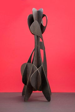 Alfil #2 - (abstract sculpture, stainless steel)