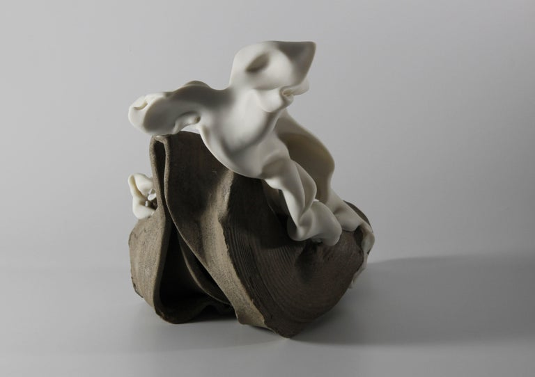 Relations 1 - Abstract porcelain sculpture - Sculpture by Sharon Brill