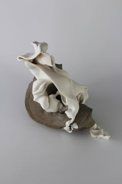 Relations 1 - Abstract porcelain sculpture