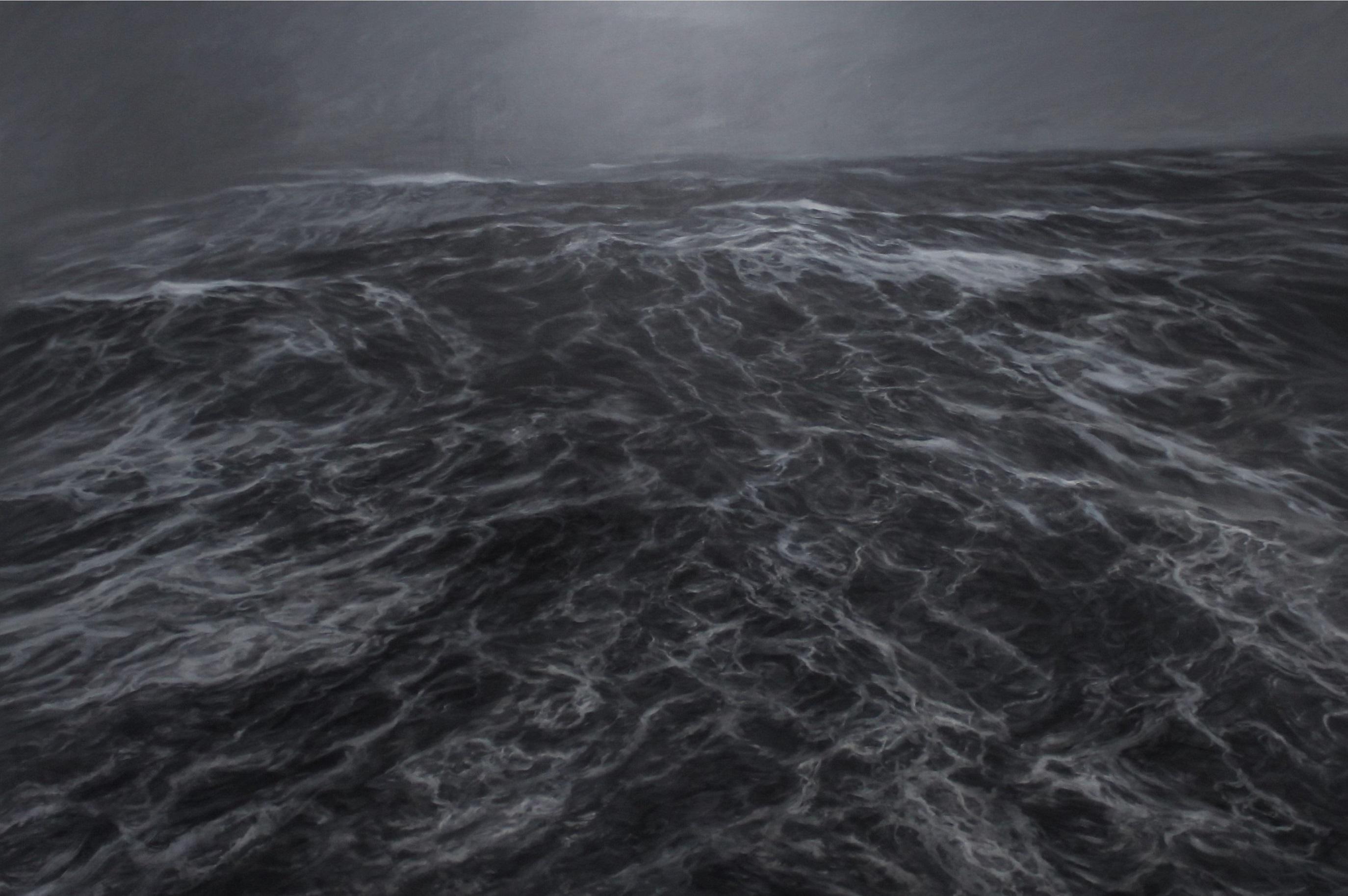 Dark Clamour by F. S. Borquez - Seascape painting, Ocean waves, Large canvas