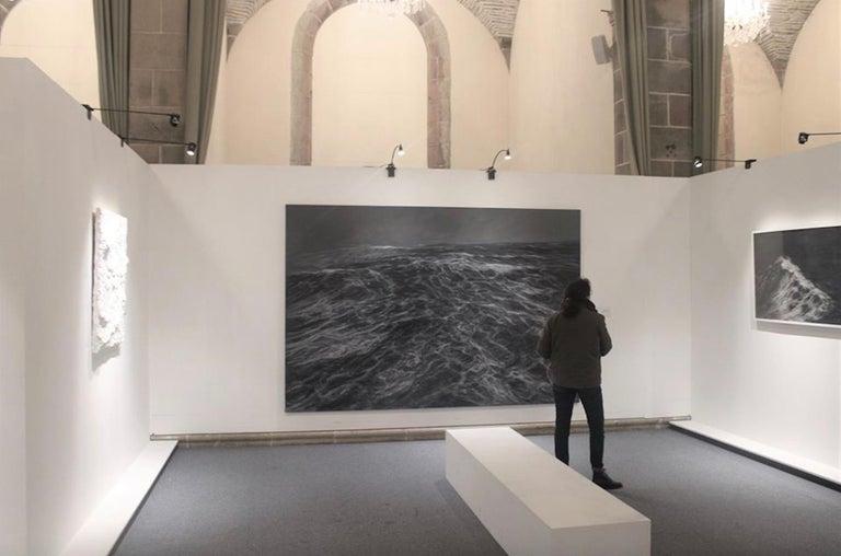 Dark Clamour by F. S. Borquez - Seascape painting, Ocean waves, Large canvas - Contemporary Painting by Franco Salas Borquez