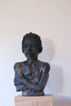 Lucas, Child Portrait, Stoneware Sculpture