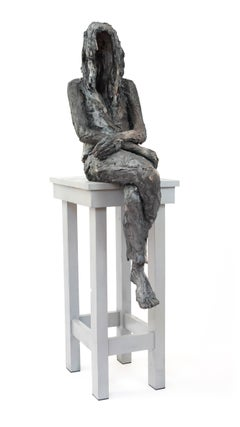 A Girl's dream - Female Portrait, Ceramic Sculpture