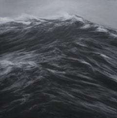 Blade by F. S. Borquez - Contemporary Oil Painting, Seascape, Ocean waves