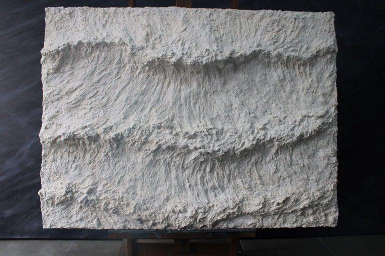 Franco Salas Borquez Landscape Painting - The Three Blades - Contemporary seascape / Relief