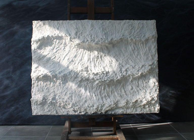 The Three Blades - Contemporary seascape / Relief - Gray Landscape Painting by Franco Salas Borquez