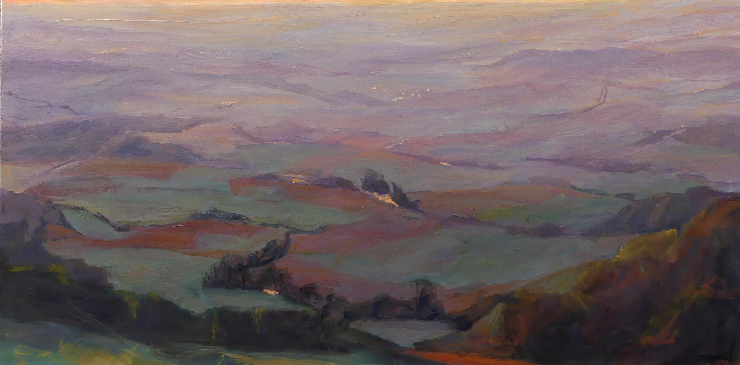 Purple Landscapes - large-scale contemporary landscape painting