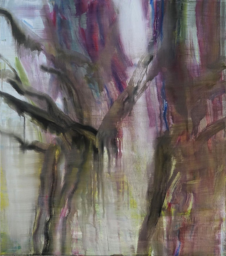 """This abstract painting is characteristic of Guy Oberson's work over the past decade. """"Art allows me to poetically render my relationship to intimacy, otherness and the sacred. […] Being an artist is above all a daily attempt to contribute to the"""