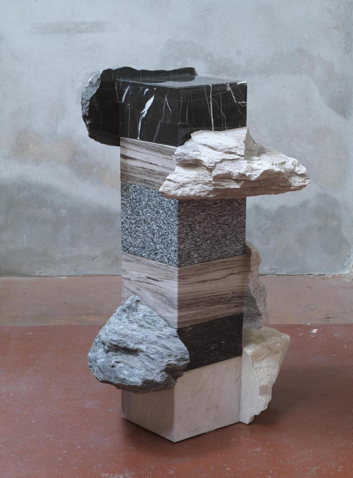 Untitled I, Palissandro - Abstract Marble Sculpture