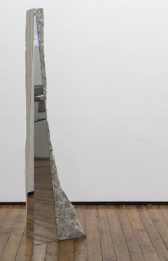 Untitled IV, large-size sculpture (marble, stainless steel)
