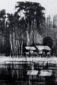 Selvas Negras n°4 - Tropical Forest Landscape, work on paper