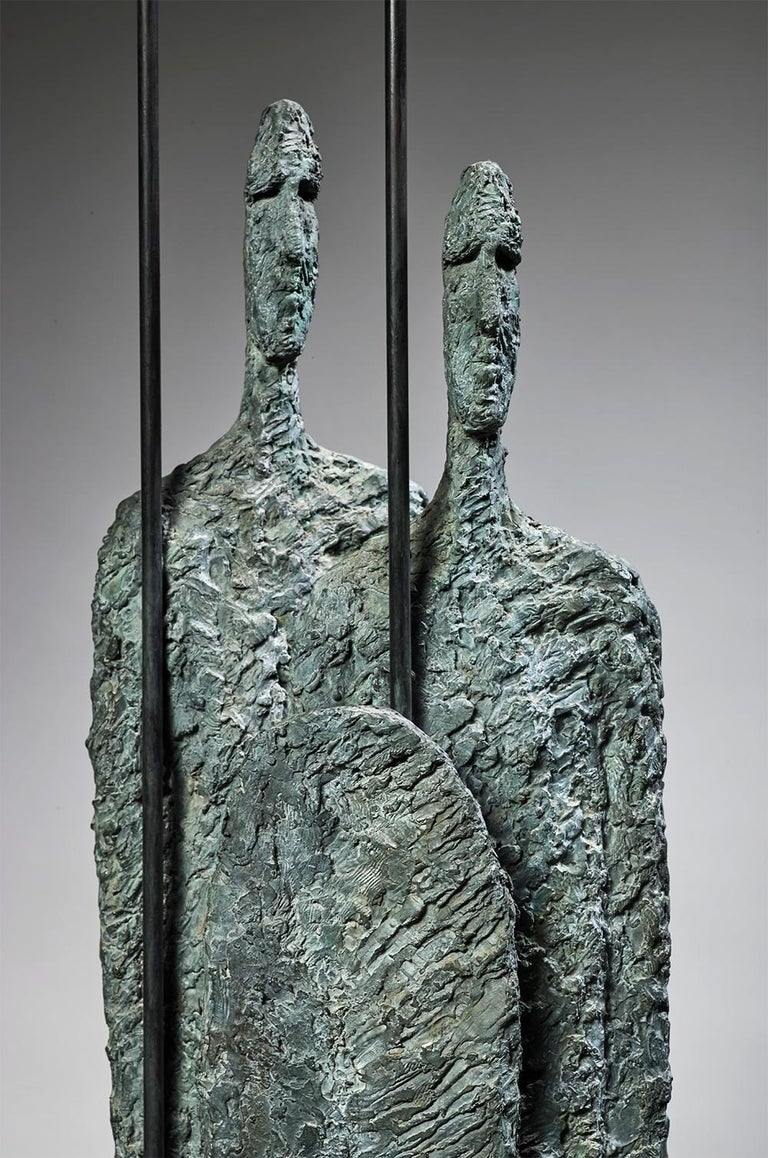 Great Warriors by Martine Demal - Contemporary bronze sculpture, human figure For Sale 1
