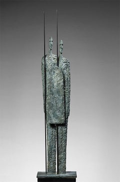Great Warriors by Martine Demal - Contemporary bronze sculpture, human figure