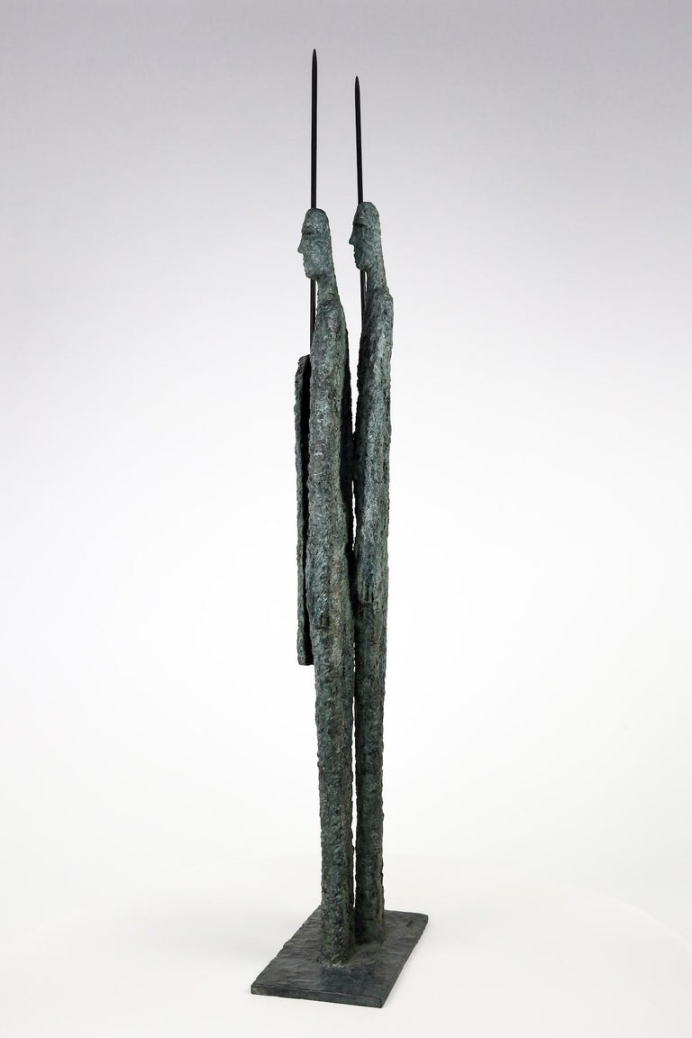 Great Warriors by Martine Demal - Contemporary bronze sculpture, human figure For Sale 2