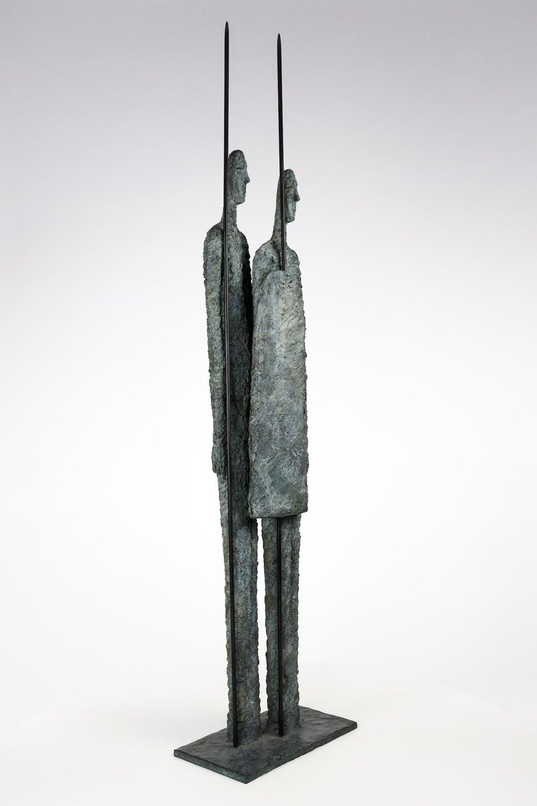 Great Warriors by Martine Demal - Contemporary bronze sculpture, human figure For Sale 3