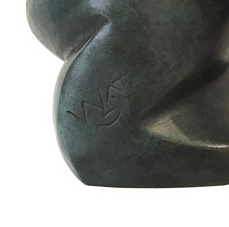 Grounded I by Eric Valat - Bronze sculpture of a bear, animal sculpture For Sale 4