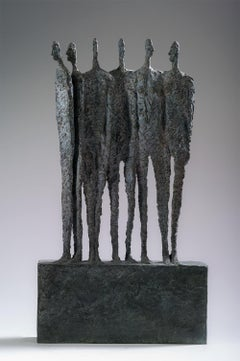The Group by Martine Demal - bronze sculpture, group of human figures