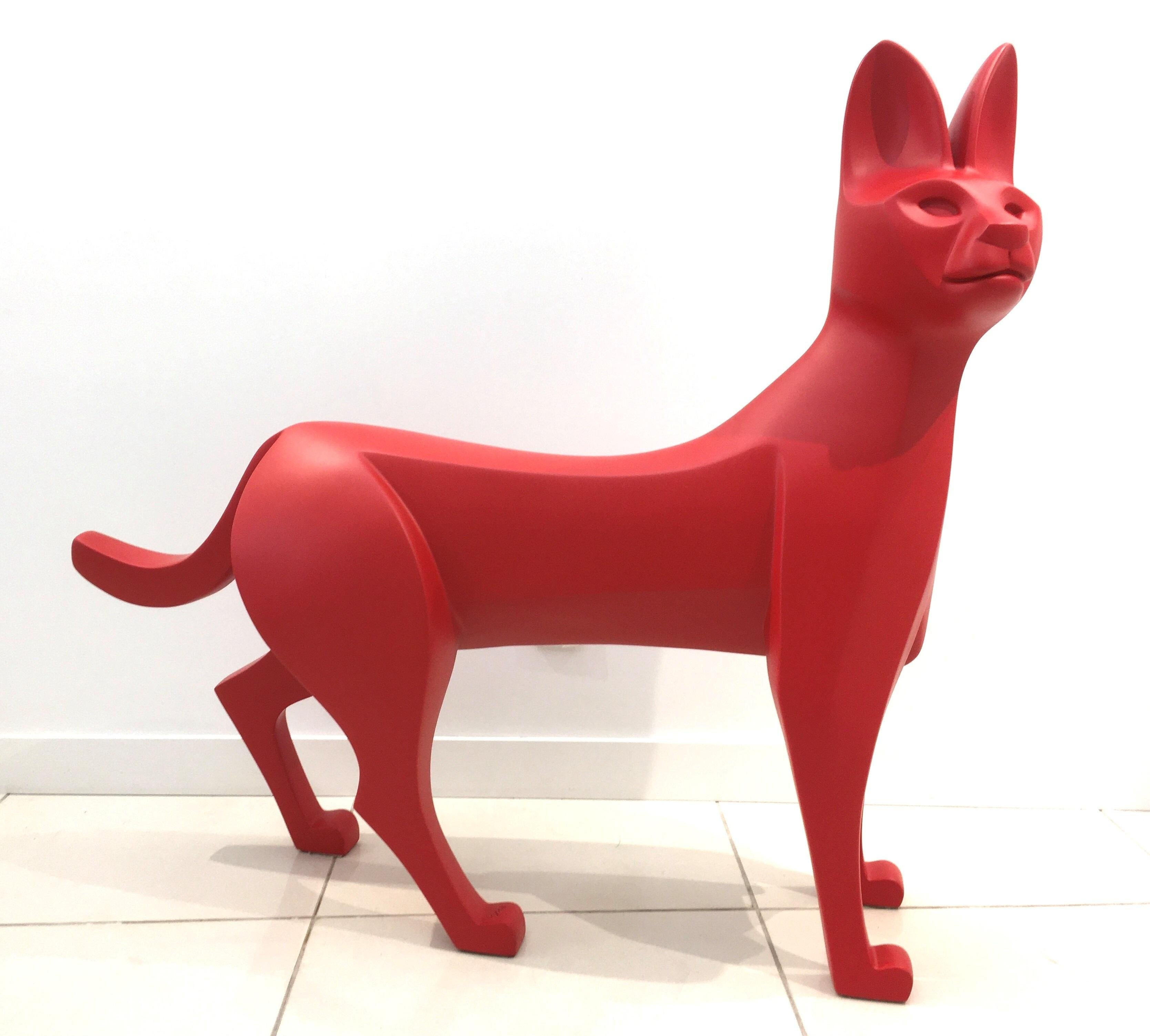 The Serval by Eric Valat - Functional Sculpture (bench) of Wild Cat, Polyester