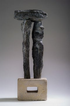 The Dolmen by Martine Demal - Contemporary bronze sculpture, Semi Abstract