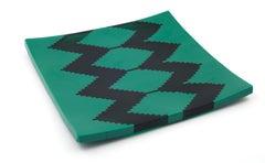 Green Abstract Glass Objet - unique original artwork