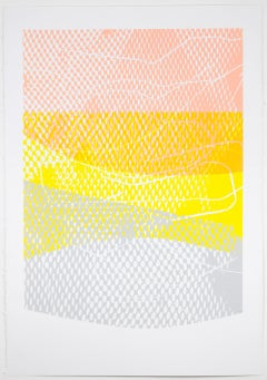Shift #9 - Abstract artwork on paper - multilayered screenprint