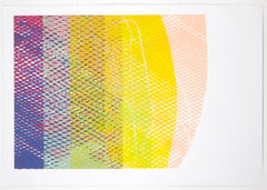 Shift #10 - Abstract artwork on paper - multilayered screenprint by Natalie Ryde