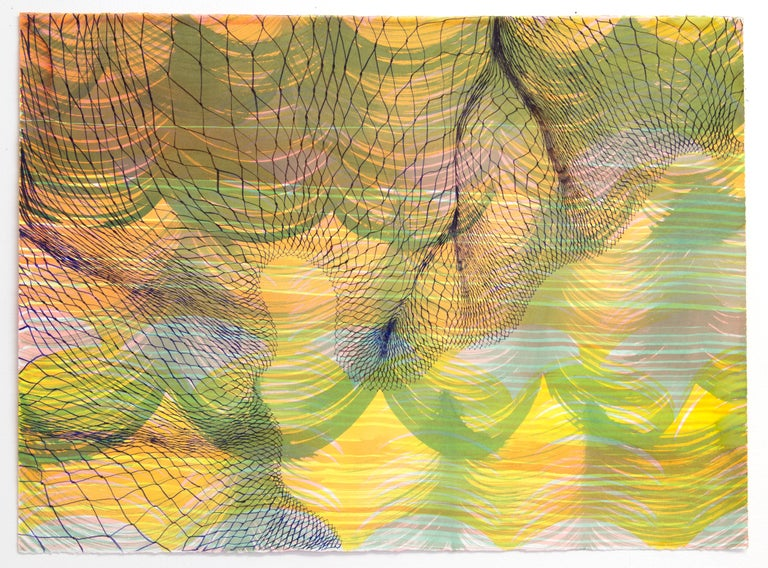 Natalie Ryde Abstract Drawing - Frontier - abstract pen and ink drawing on paper
