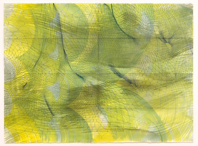 Natalie Ryde Abstract Drawing - Folded Surfaces - abstract pen and ink drawing on paper