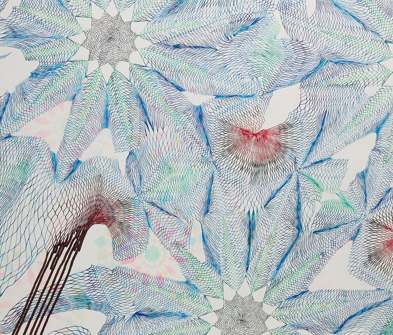 Everything we thought we knew - Abstract pen and ink drawing on paper - Art by Natalie Ryde