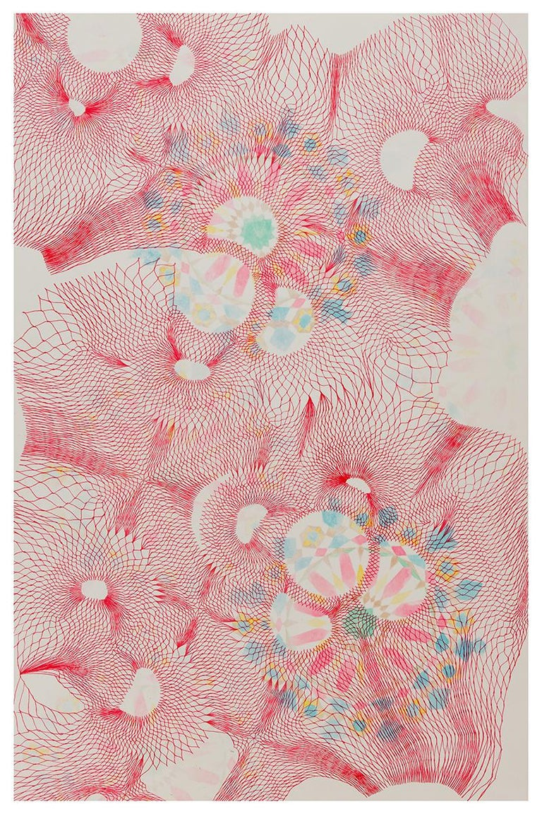 Natalie Ryde Abstract Drawing - Tesselations 2 - Abstract pen and ink drawing on paper