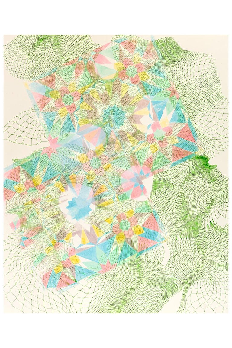 Natalie Ryde Abstract Drawing - Tesselations 1 - Abstract pen and ink drawing on paper