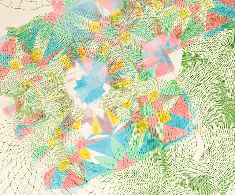 Tesselations 1 - Abstract pen and ink drawing on paper - Abstract Geometric Art by Natalie Ryde