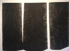 A Bark Study - A Contemporary Abstract Drawing of Pine Trees