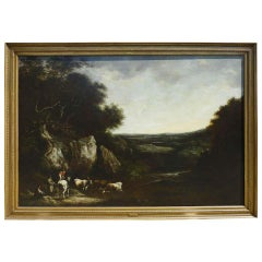 Benjamin Barker Of Bath, Landscape With Cattle, Oil On Canvas Signed, Dated 1810