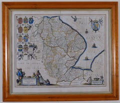 Antique Map Of Lincoln/Norfolk Circa. 1610