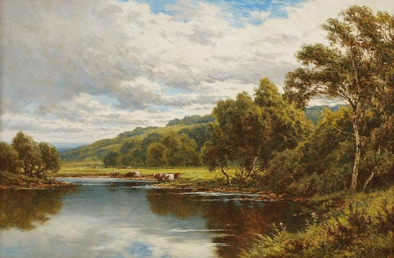 Henry Hillingford Parker Landscape Painting - On The Severn