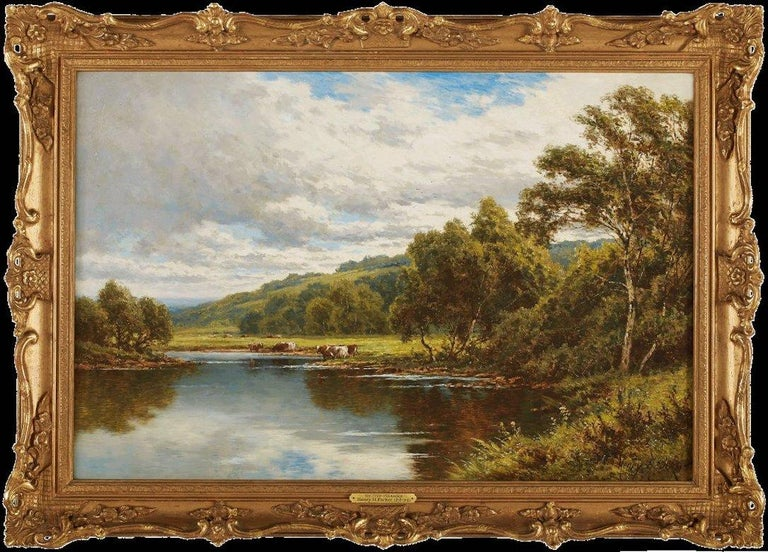 On The Severn - Painting by Henry Hillingford Parker