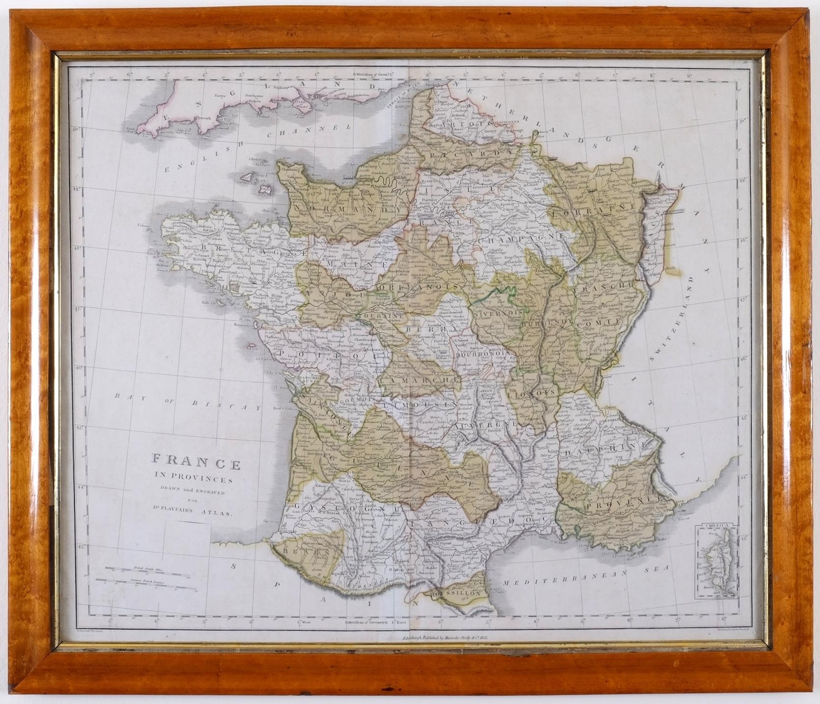 A Beautiful Antique Map of France